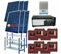 """Солнечная электростанция 3 - 6 кВт 48В 225Ач  """"Medium"""""""