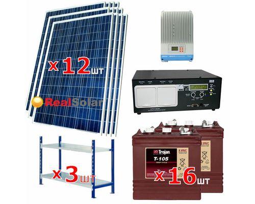 """Солнечная электростанция 6 - 12 кВт 48В 225Ач  """"Premium"""""""